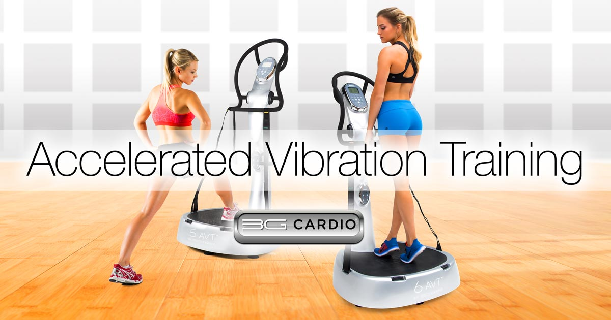 Cardio Workout On An Accelerated Vibration Training Machine