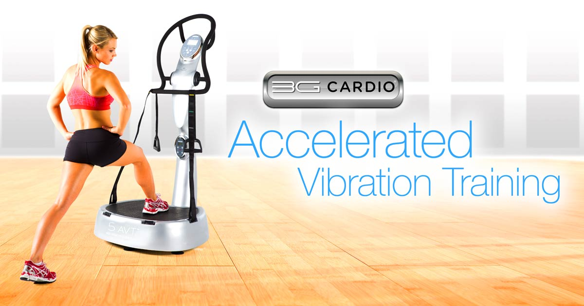 Work out like you're 18 again on 3G Cardio Vibration Machine