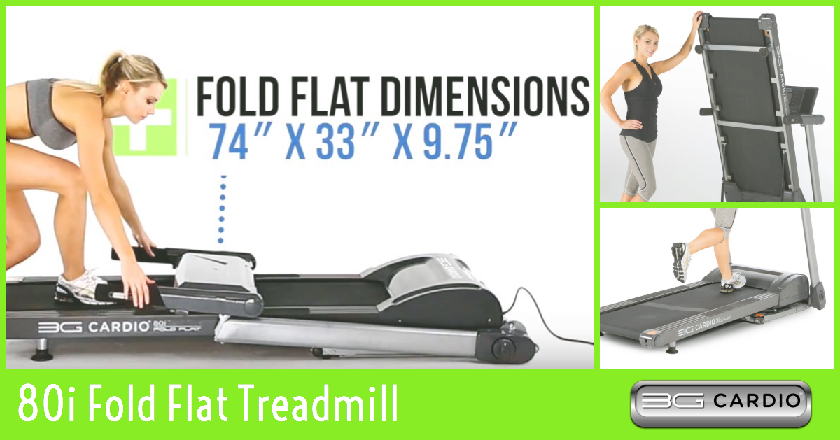 Walk when you want with 3G Cardio 80i Fold Flat Treadmill