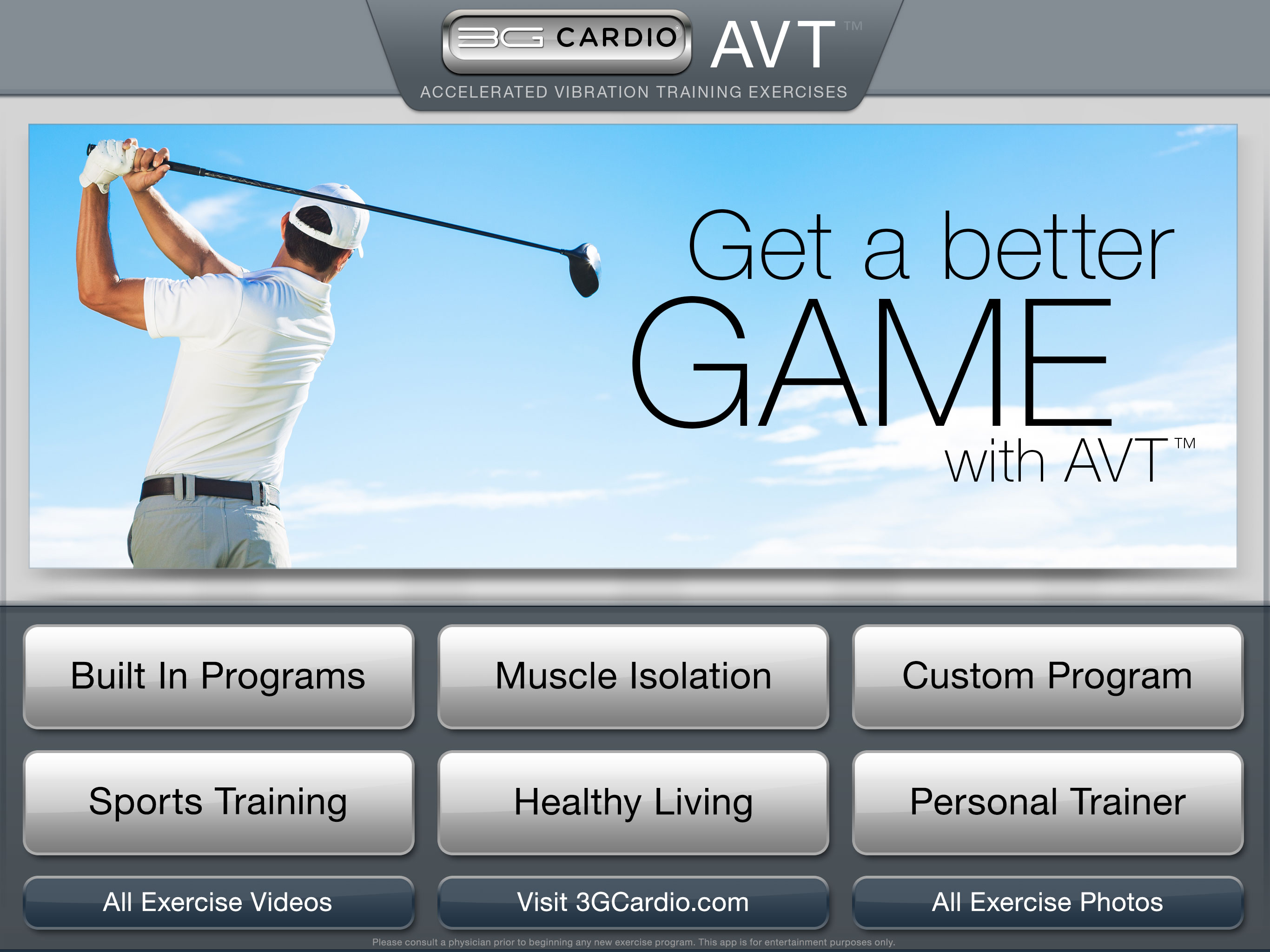 3G Cardio has awesome App for Vibration Training - 3G Cardio