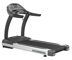 The 3G Cardio Elite Runner Treadmill features a powerful DC 4.0 hp motor, huge 22×62 belt and can accommodate users weighing up to 400 pounds. It's plenty sturdy with an assembled weight of 386 pounds.