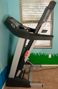 Space is at a premium in Janel's home, so the ability to fold up the 3G Cardio Pro Runner Treadmill was a big bonus.