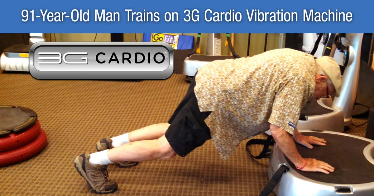 100-Year-Old Woman, 91-Year-Old Man Train On 3G Cardio Vibration Machines