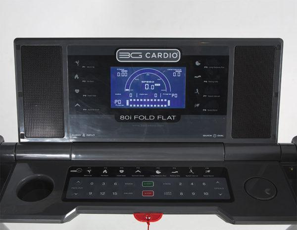 3G Cardio 80i Fold Flat Treadmill Console