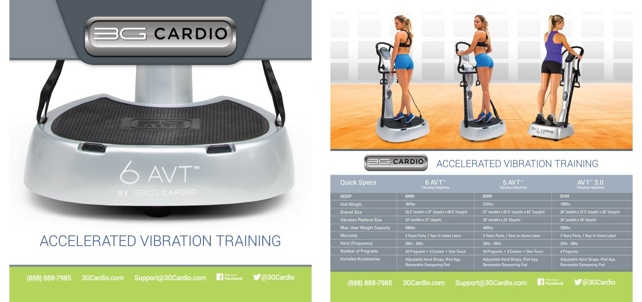 3G Cardio AVT Vibration Machines Brochure