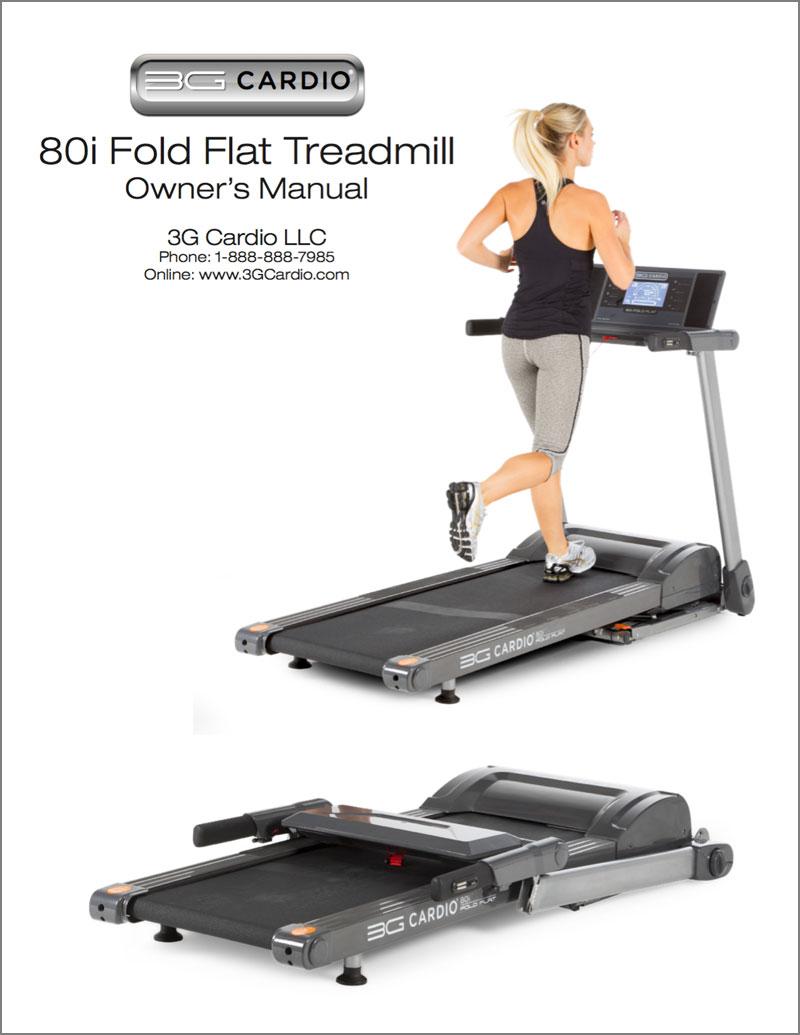 3G Cardio 80i Fold Flat Treadmill Manual