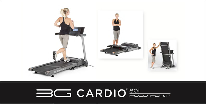 3G Cardio Brochures - 80i Fold Flat Treadmill
