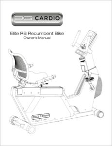 Elite RB Recumbent Bike Manual
