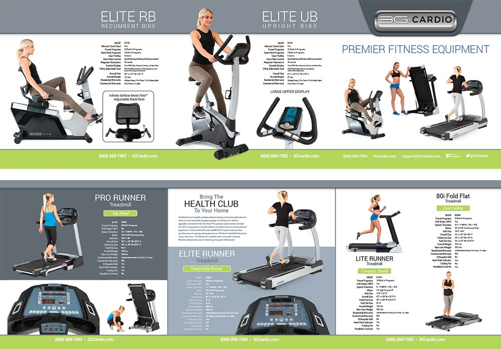 3G Cardio Treadmills and Exercise Bikes Brochure