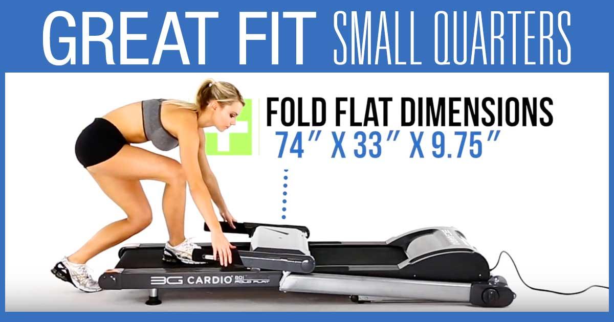 80i Fold Flat Treadmill Great Fit Small Quarters