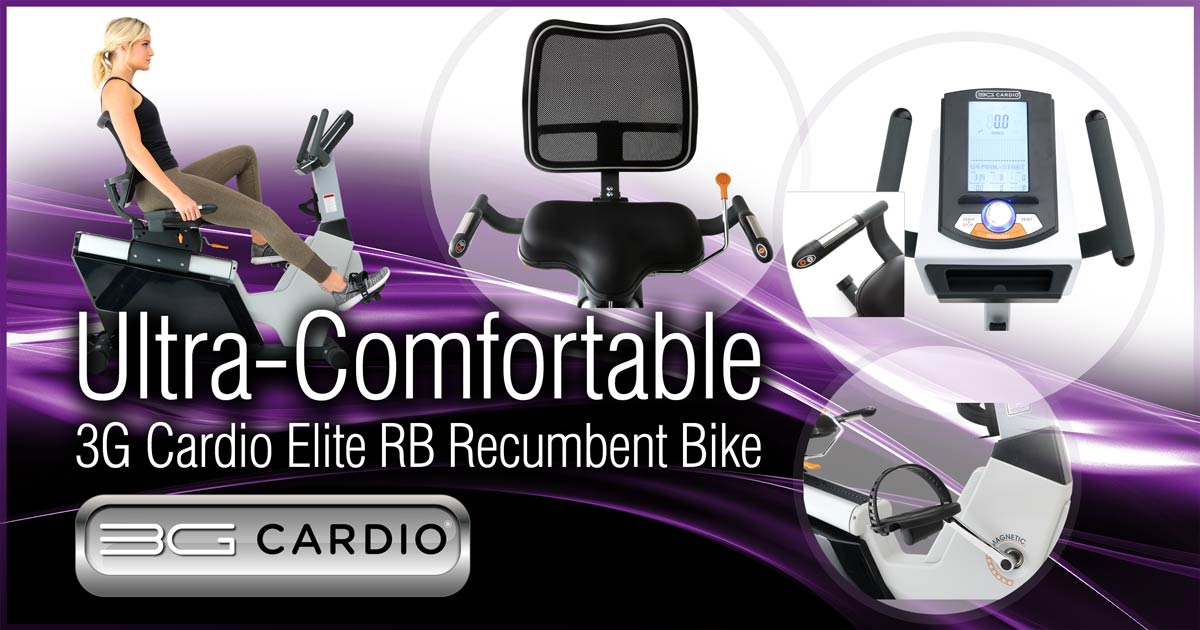 Ultra-Comfortable 3G Cardio Elite RB Recumbent Bike