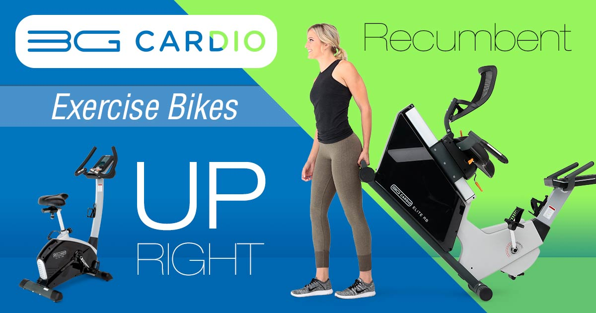 3G Cardio Recumbent or Upright Exercise bike