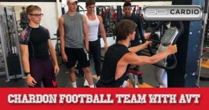 Chardon football team vibration machine