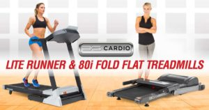 3G Cardio 80i Fold Flat and Lite Runner Treadmills