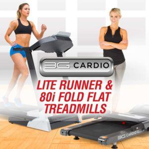 3G Cardio 80i Fold Flat and Lite Runner Treadmills