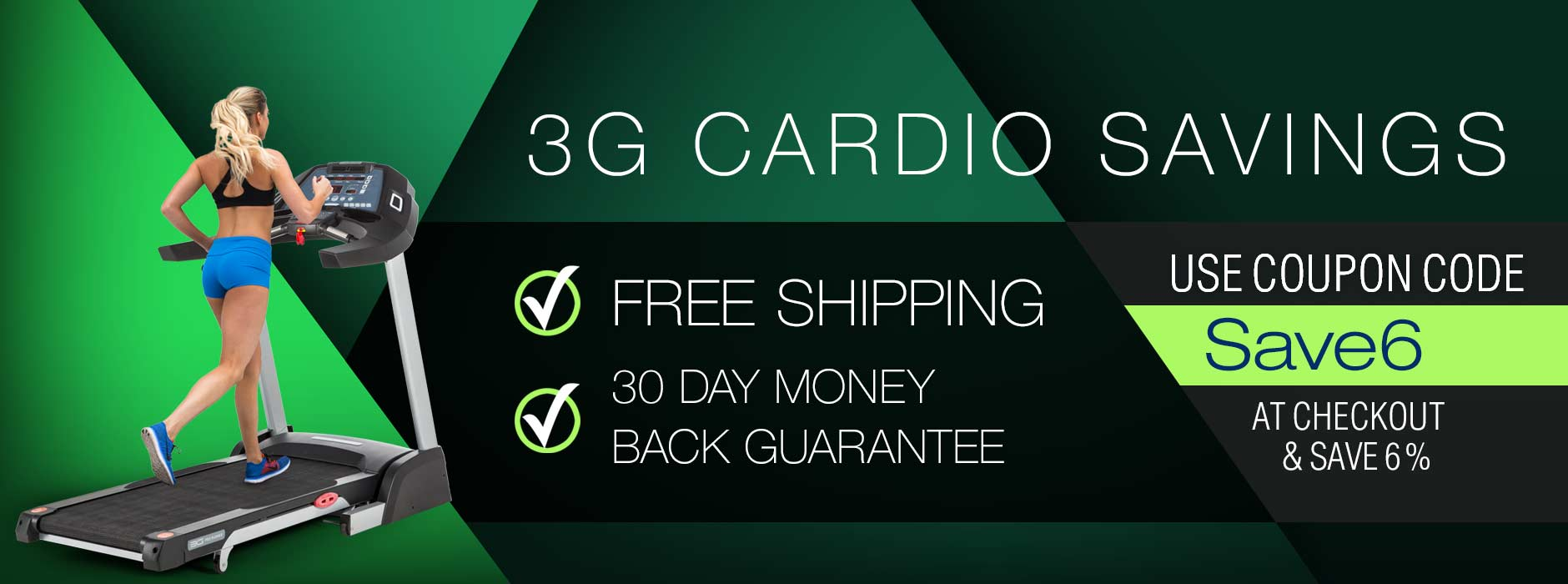 3G Cardio Fitness Equipment Savings