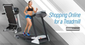 shopping online for a treadmill