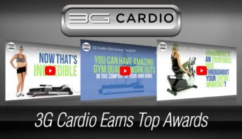 3G Cardio earns top awards for treadmills, exercise bikes, vibration trainers