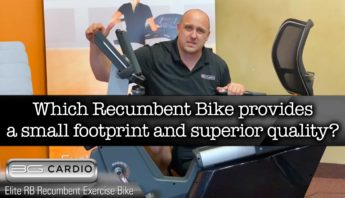 What makes the Compact Elite Recumbent Bike so space friendly?