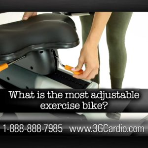 What is the most adjustable exercise bike?