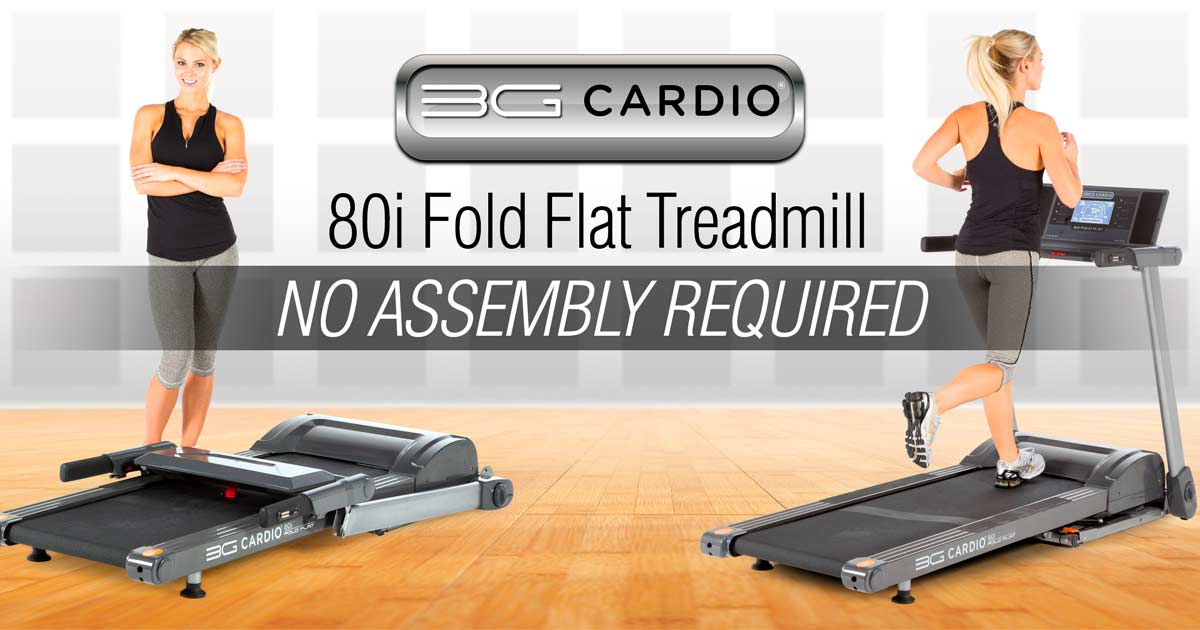 No Assembly Required On 3G Cardio 80i Fold Flat Treadmill