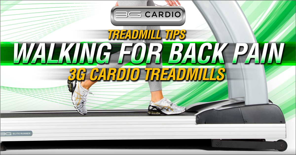 Can walking on a treadmill help with back pain?