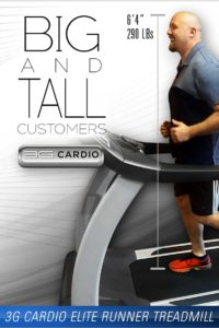 Big And Tall Customers Can Get a Comfortable Workout On 3G Cardio Elite Runner Treadmill