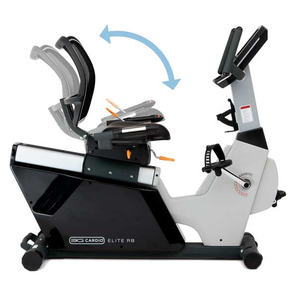 Seat Tilt Adjustment - Elite RB Recumbent Bike - 3G Cardio
