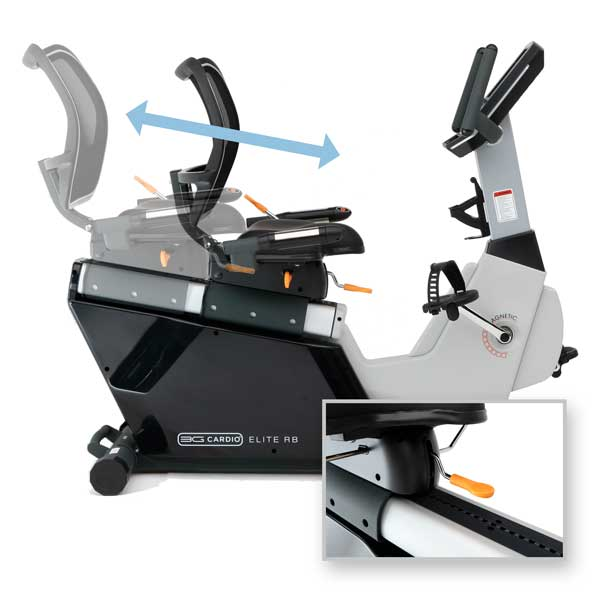 Seat Frame Slide Adjustment - Elite RB Recumbent Bike - 3G Cardio