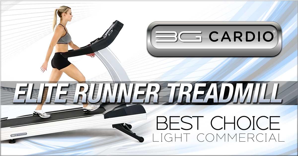 3G Cardio Elite Runner Treadmill best choice for light commercial fitness gyms