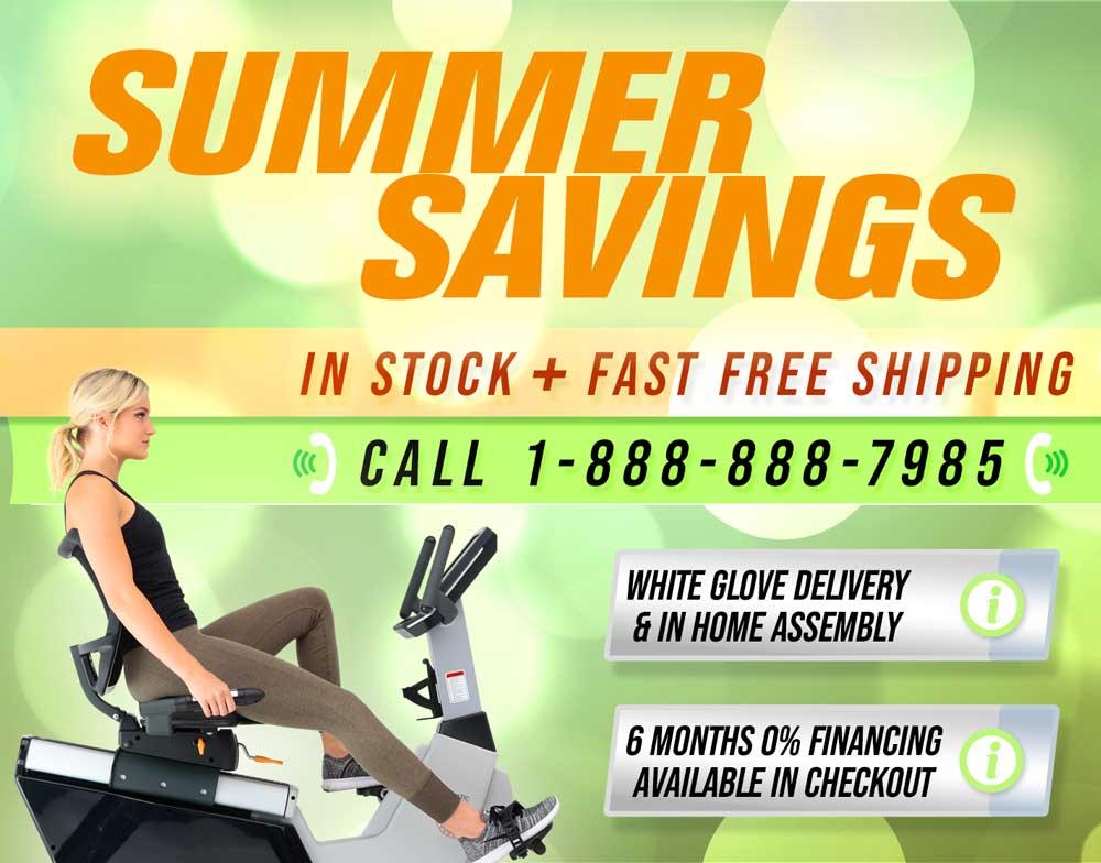 Summer Savings at 3GCardio.com - Exercise Bikes, Treadmills, Fitness Equipment