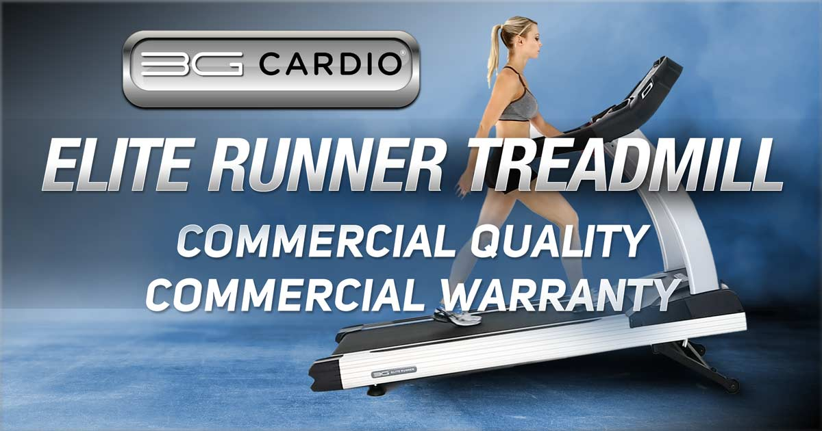 3G Cardio Elite Runner Treadmill is commercial quality with light commercial warranty