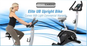 3G Cardio Elite UB Upright Bike comes with light commercial warranty